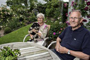 Rose, Birthe og Ernst. 'Rose' er en dejlig 'Bichon Havannais'